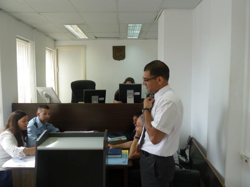 דיון פלילי בבית משפט השלום בירושלים
